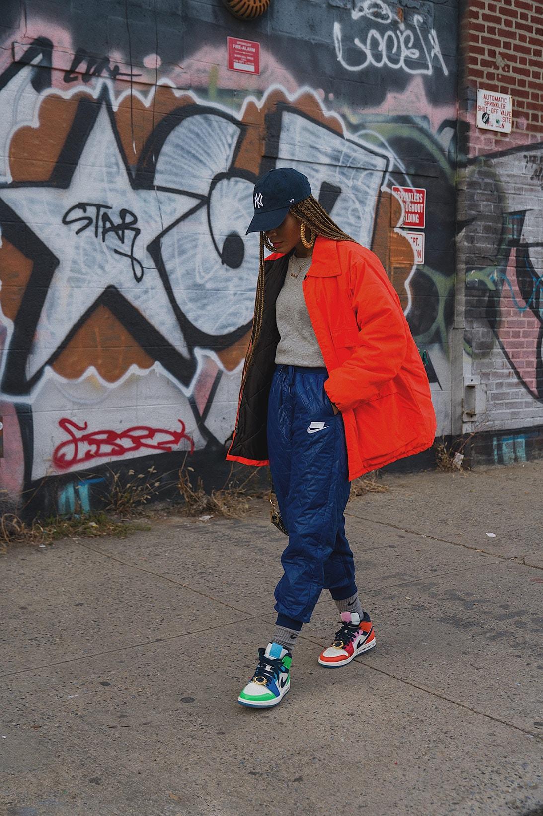 kia marie sneaker collector new york city content creator stylist influencer off white nike jordan 4 sail 1