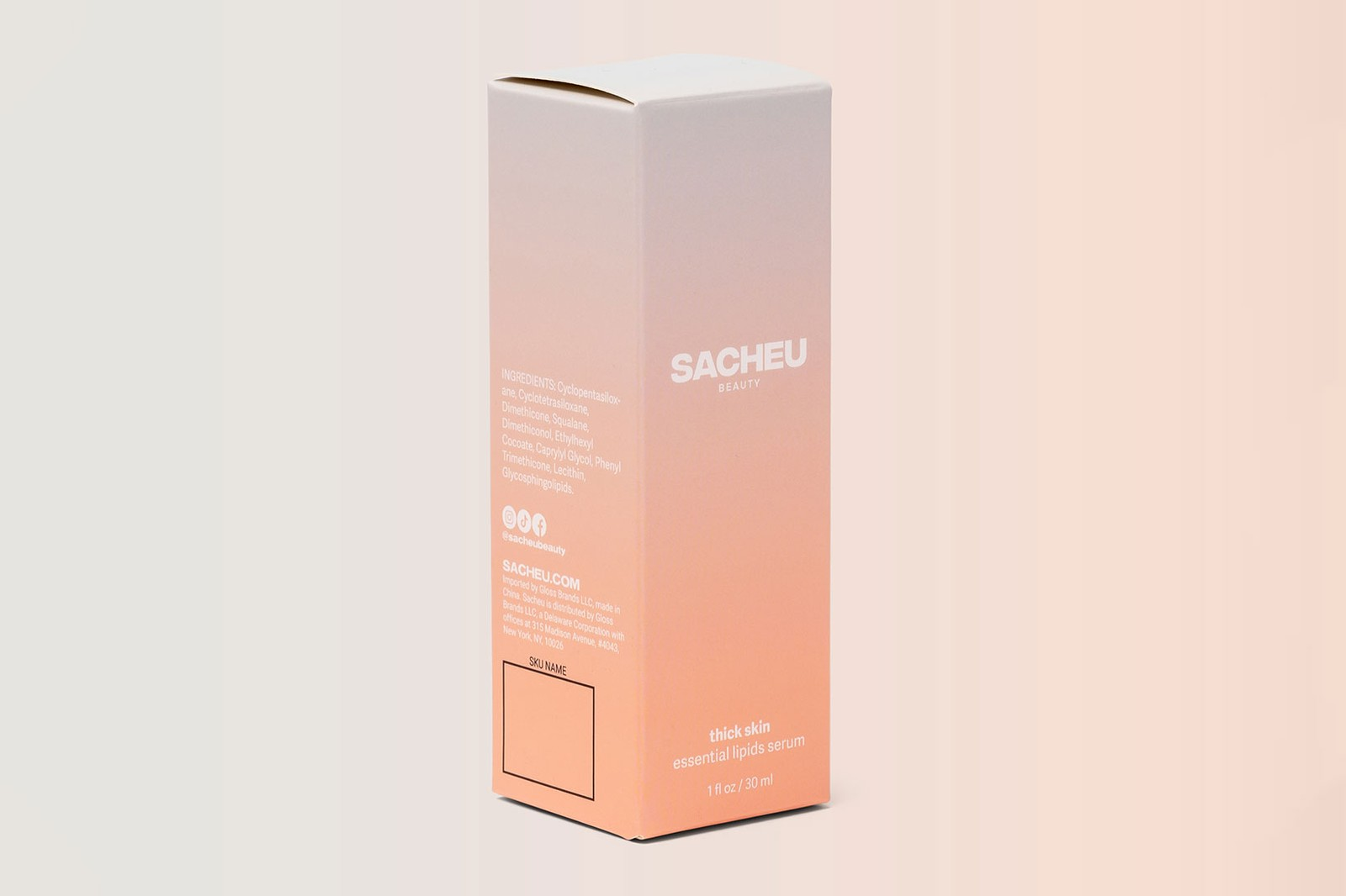 SACHEU Beauty Sarah Cheung YouTuber Thick Skin Serum Skincare Essential Lipids Packaging