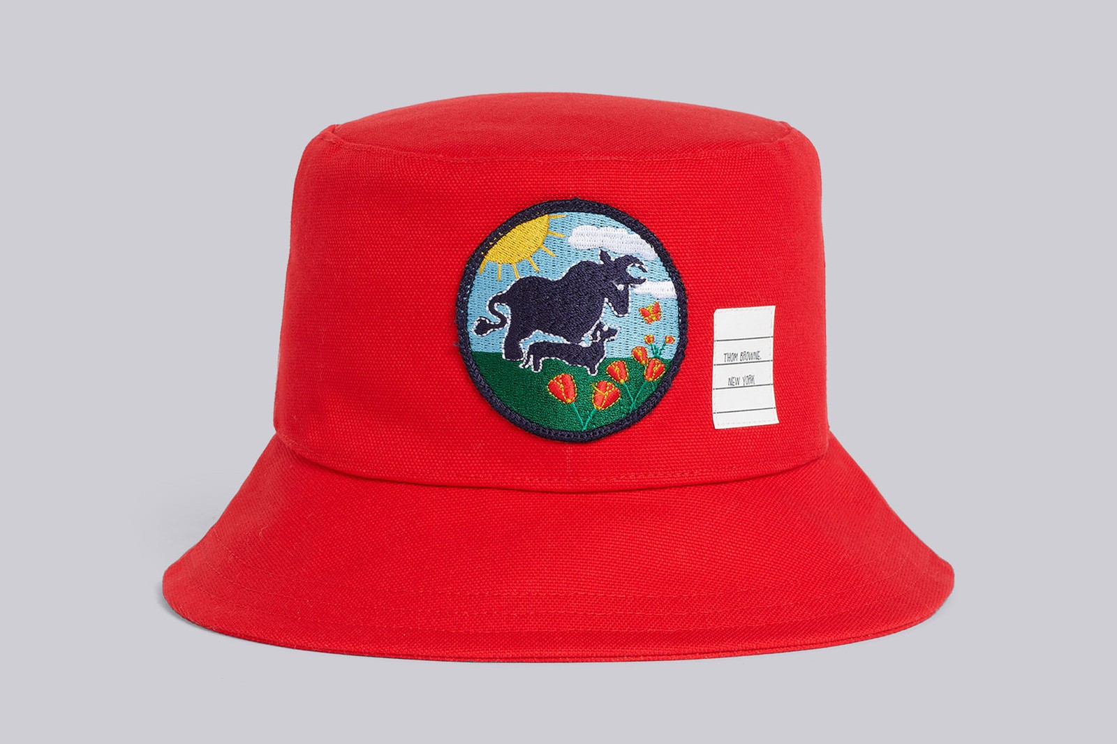thom browne lunar new year capsule collection ox bucket hat scarf patch price where to buy