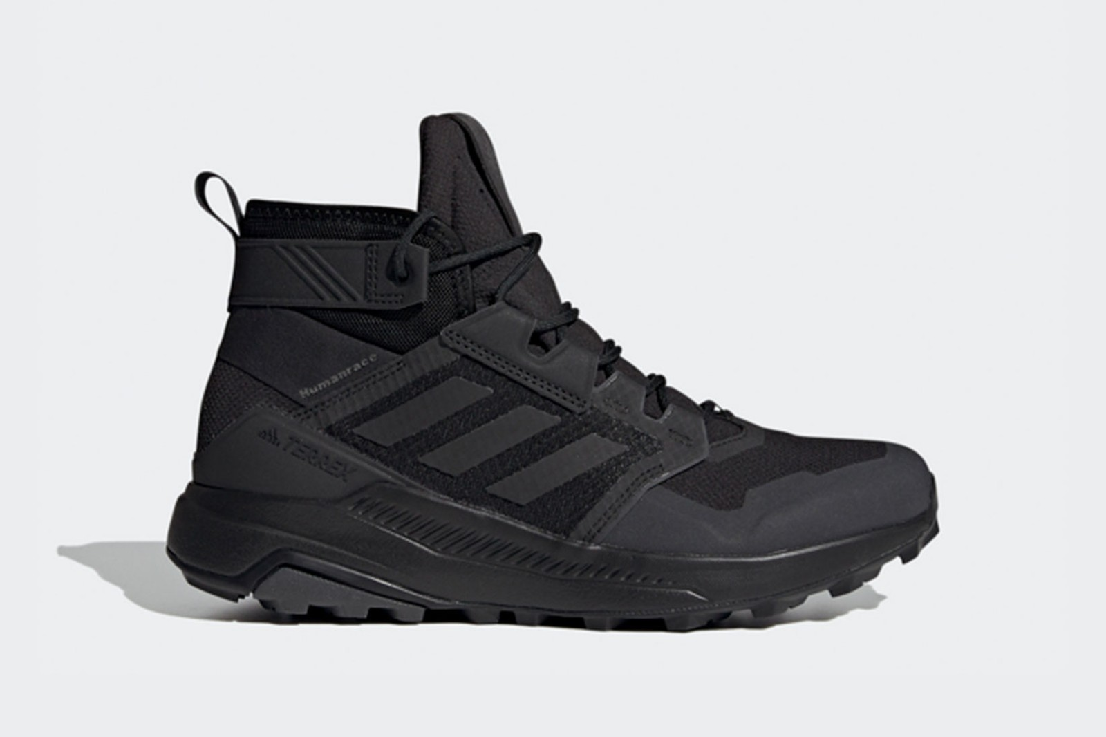 pharrell williams adidas pw triple black collaboration hu nmd terrex freehiker sneakers boots release where to buy