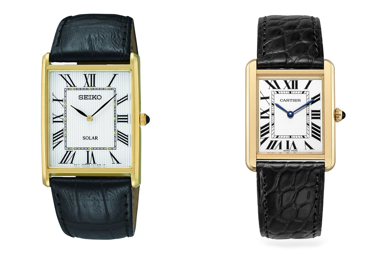 cartier tank louis brown leather strap best luxury watches affordable alternatives budget-friendly cheap