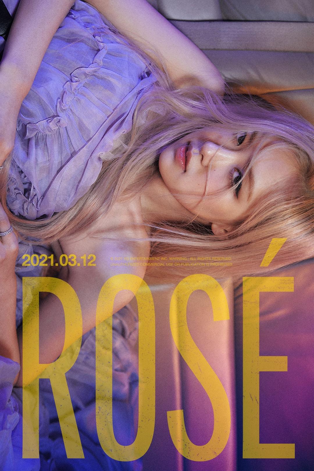 BLACKPINK Rosé Solo Debut Album -R- On The Ground Music Video Teaser Poster K-Pop Girl Group Member Korean Celebrity Singer Artist