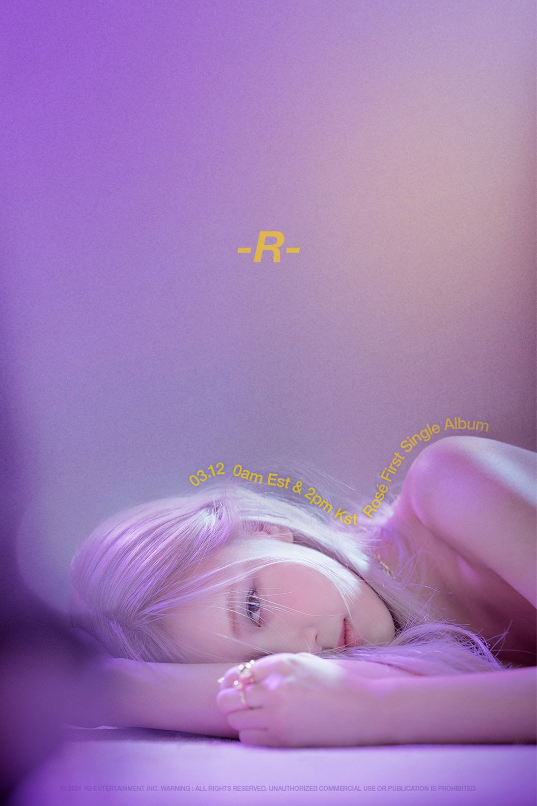 BLACKPINK Rosé Solo Debut Album -R- On The Ground Music Video Teaser Poster K-Pop Girl Group Member Korean Celebrity Singer Artist