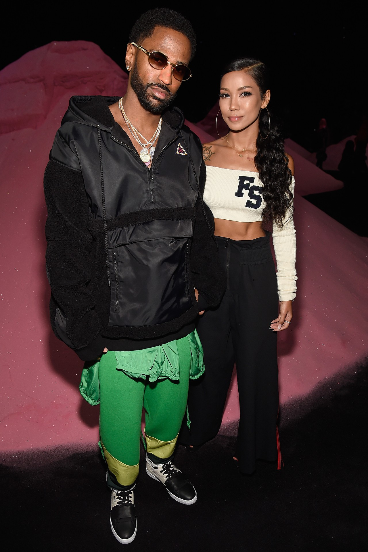Jhené Aiko Big Sean Singer Rapper Best Celebrity Couple Outfits Style Looks Dior Spring Summer 2018 Runway Show Paris Fashion Week Haute Couture Dress Jacket Coat