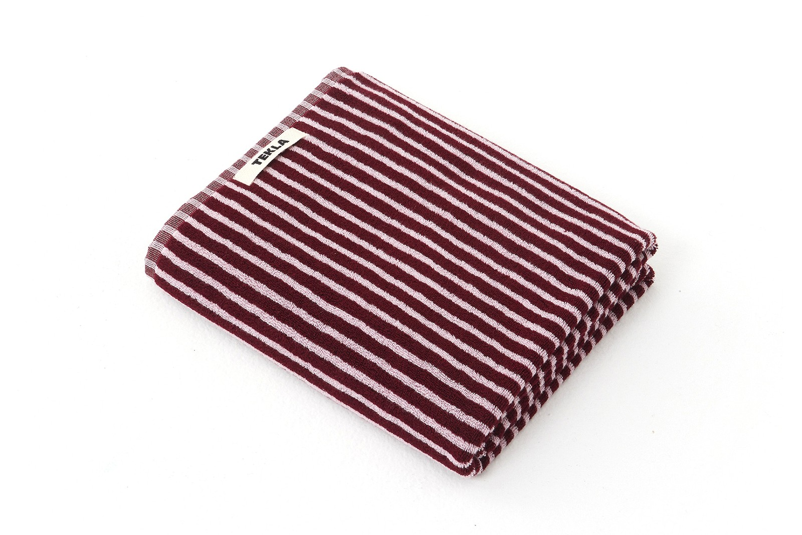 Tekla Striped Organic Cotton Towels Chair Home Decor Black White Maroon