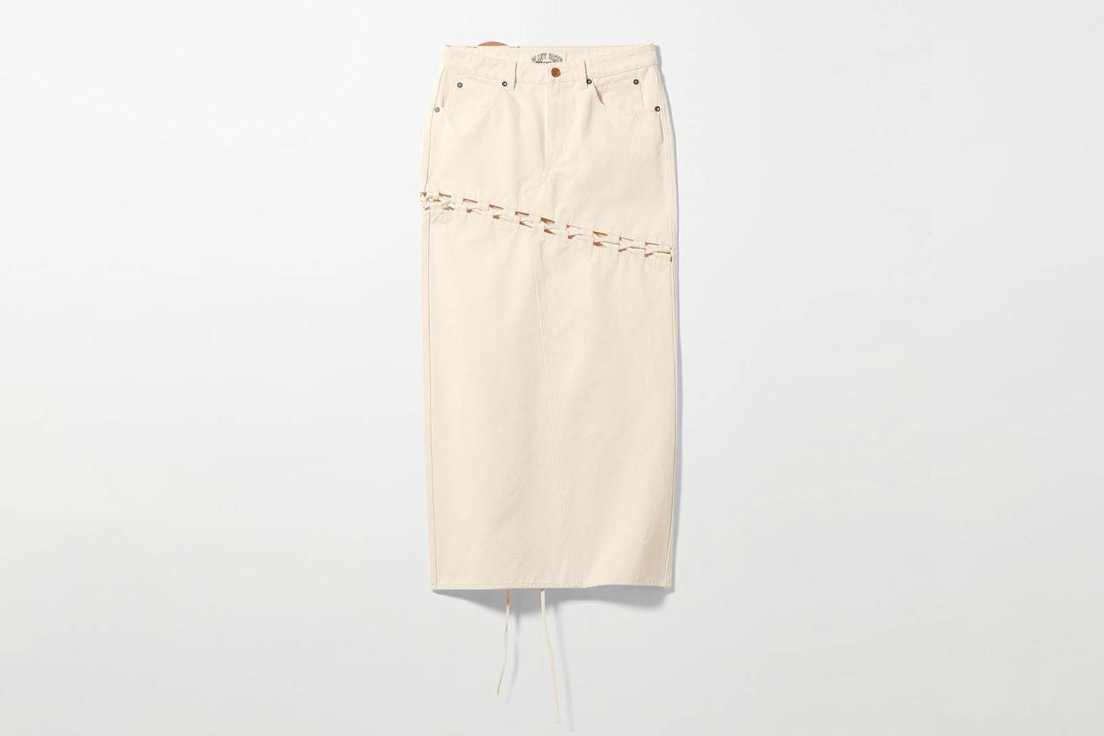 weekday denim jeans hemp plant based sustainable jackets skirts pants
