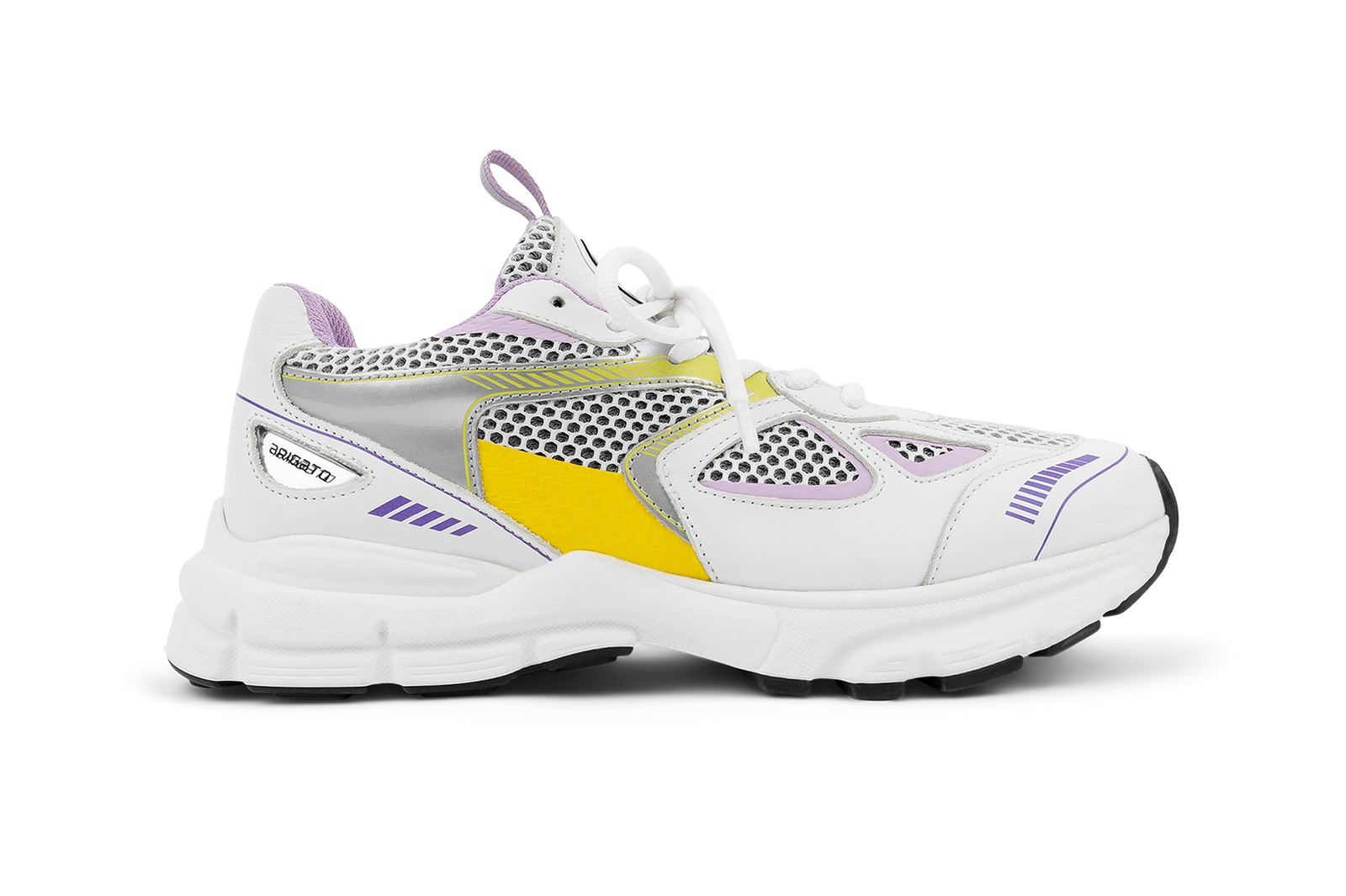 axel arigato marathon runner sneakers white blue purple yellow footwear shoes kicks sneakerhead