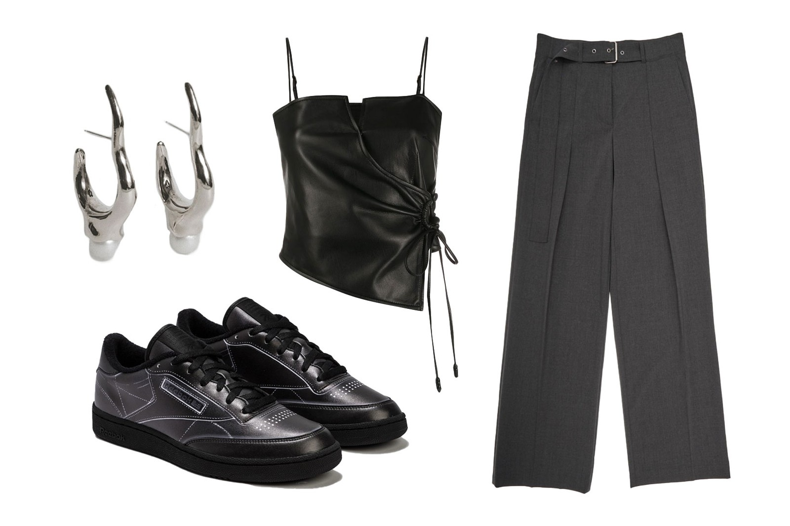 gray outfit ideas spring summer editors style guide mm6 maison margiela dion lee