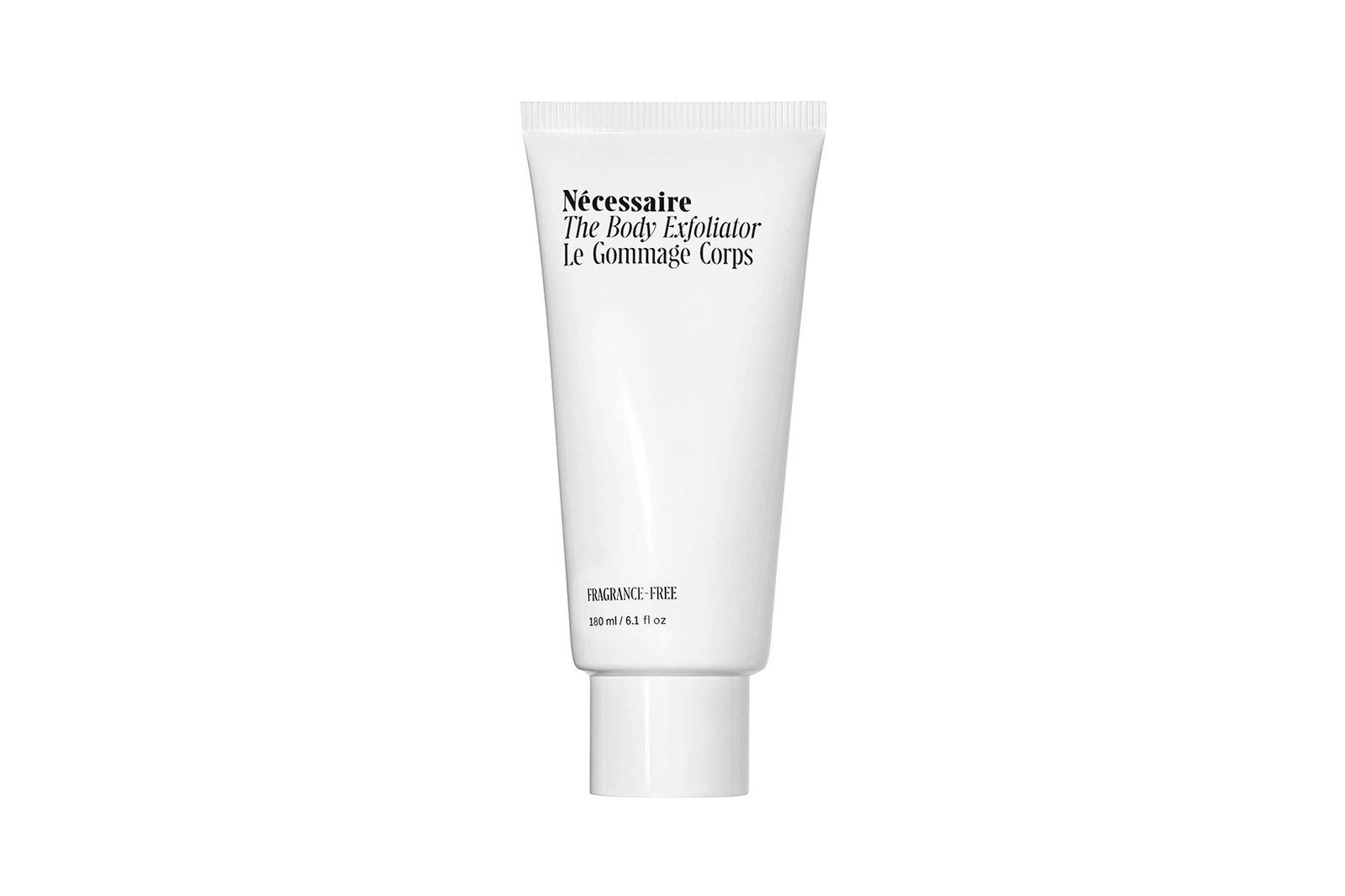 necessaire the body exfoliator bamboo charcoal skincare fragrance free