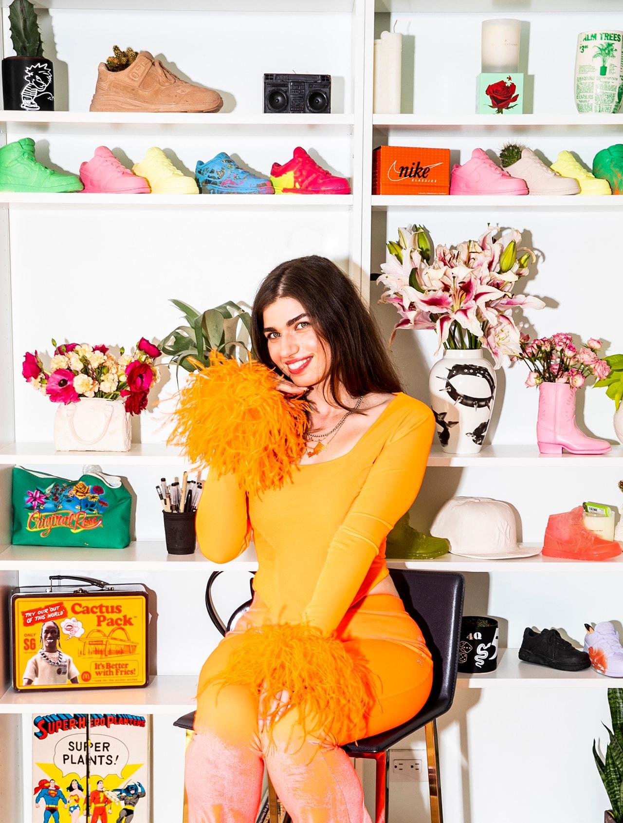 Original Rose Founder Olivia Artist Plant Designer New York City Home Apartment Nike Basketball Rug Cushion Vase Tennis Side Table Togo Sofa