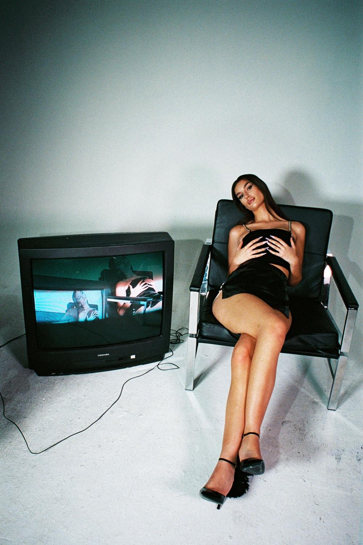 saturdazed simulation collection campaign release loungewear bodysuit crop top