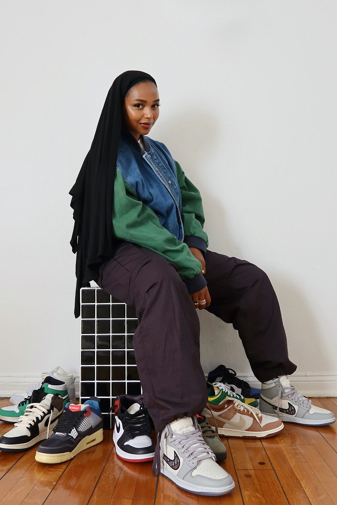 shahd batal sneaker collector collection los angeles content creator influencer youtuber sudanese american hijab