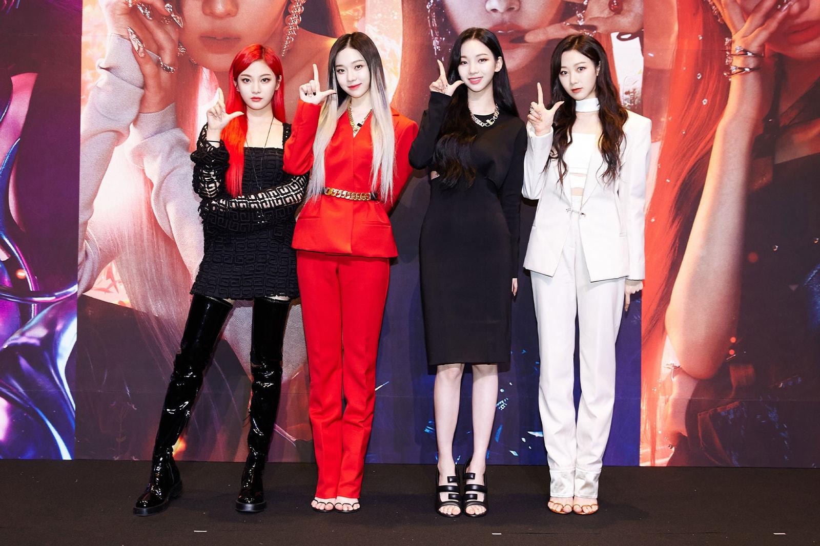 aespa next level single release press conference ningning karina winter giselle k-pop