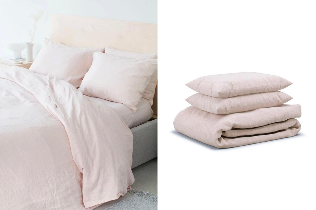 Parachute Bedding Sets Duvet Covers Percale Venice Clay Mauve Modern Home Bedroom Homeware Decor Design