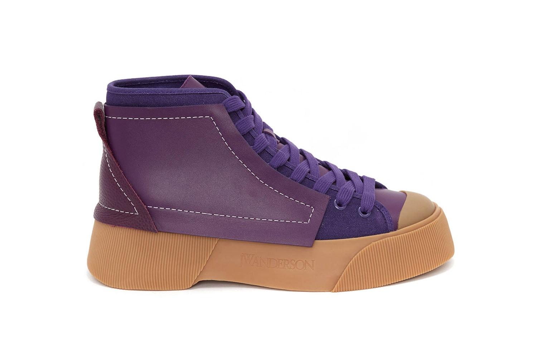 JW Anderson Debuts First-Ever Sneaker Release 7 Colors Orange Purple Green Brown White Black Gum