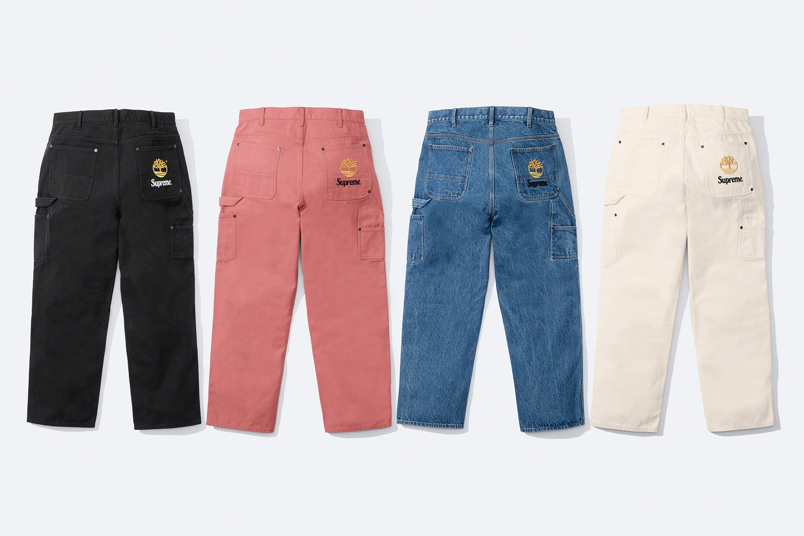 supreme timberland spring collaboration collection anoraks track pants sweatshirts release date info