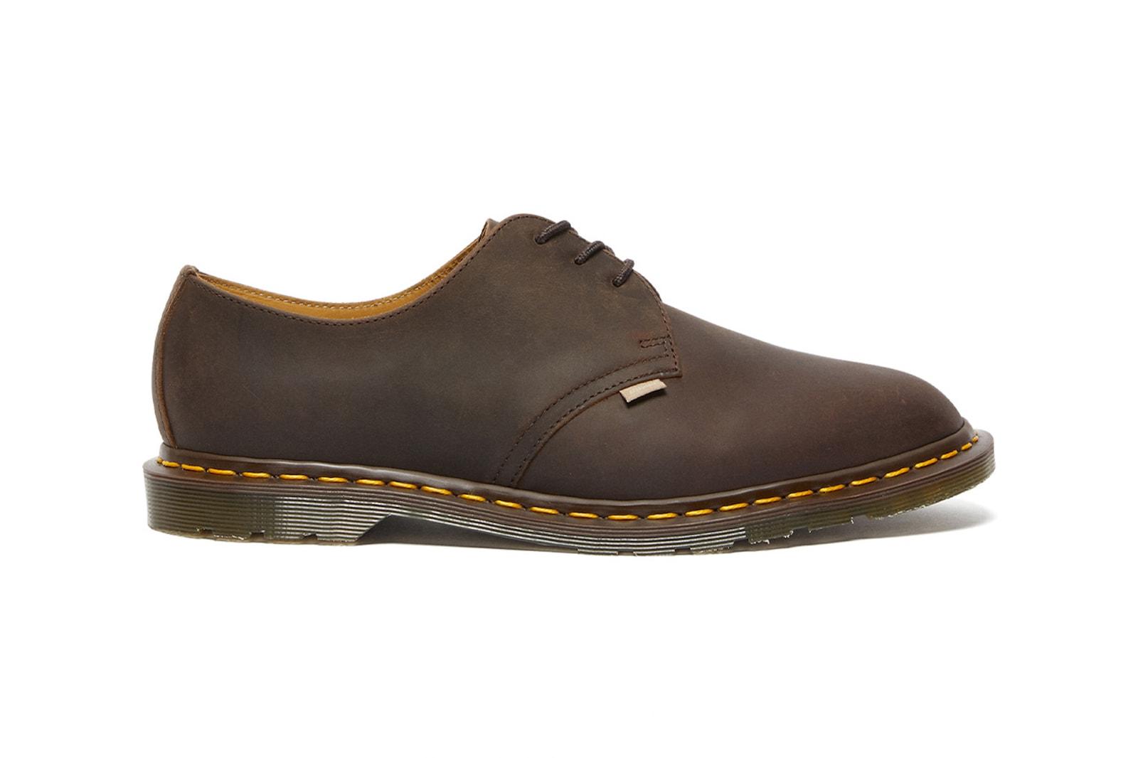 dr martens jjjjound spring summer 2021 collaboration archie ii shoes black brown
