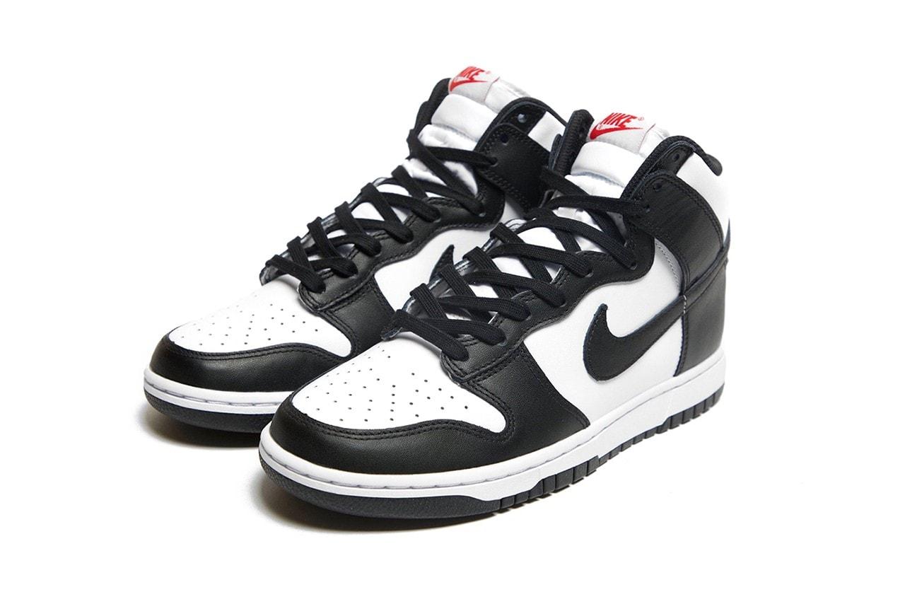 Nike Dunk High Panda Black White High Top Sneaker Sneakers Swoosh Logo Women's
