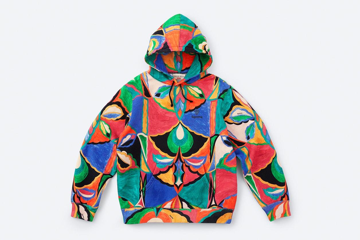 supreme emilio pucci spring collaboration soccer jerseys hoodies fantasia tulipani prints release date info