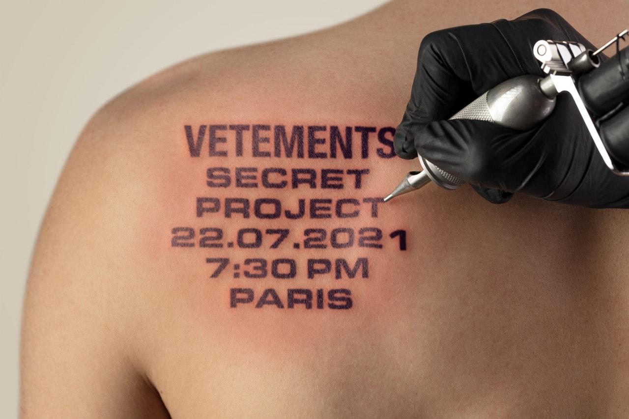 Vetements New Brand Secret Project Teaser Announcement
