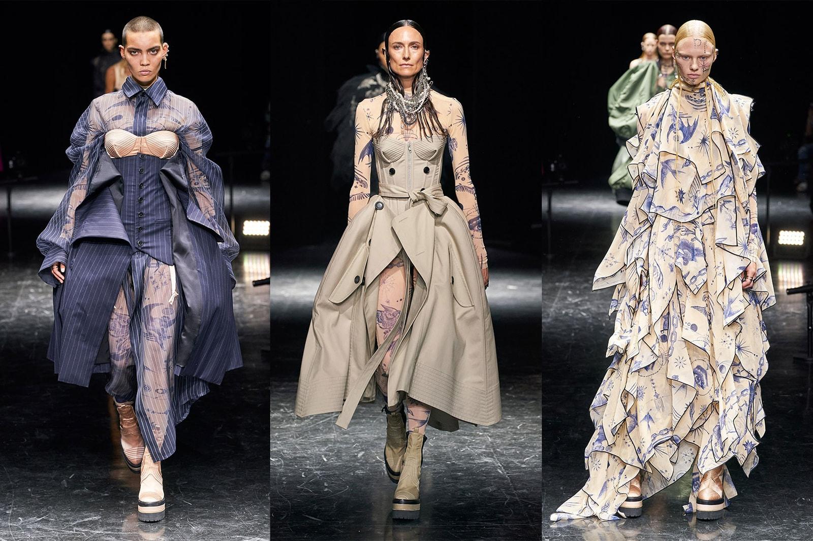Paris Haute Couture Week 2021 Fall Winter Fashion Shows Collections Balenciaga Jean Paul Gaultier Sacai Chitose Abe Schiaparelli Iris Van Herpen