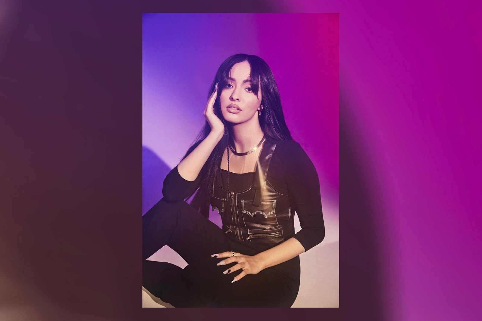 Faouzia Moroccan Canadian Singer Songwriter Music Artist Hero Single Artwork Headband Orange Heels Minefields Stripped