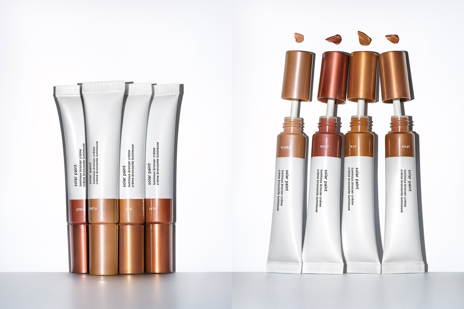 Glossier Solar Paint Bronzer Flare Ray Heat Volt Makeup