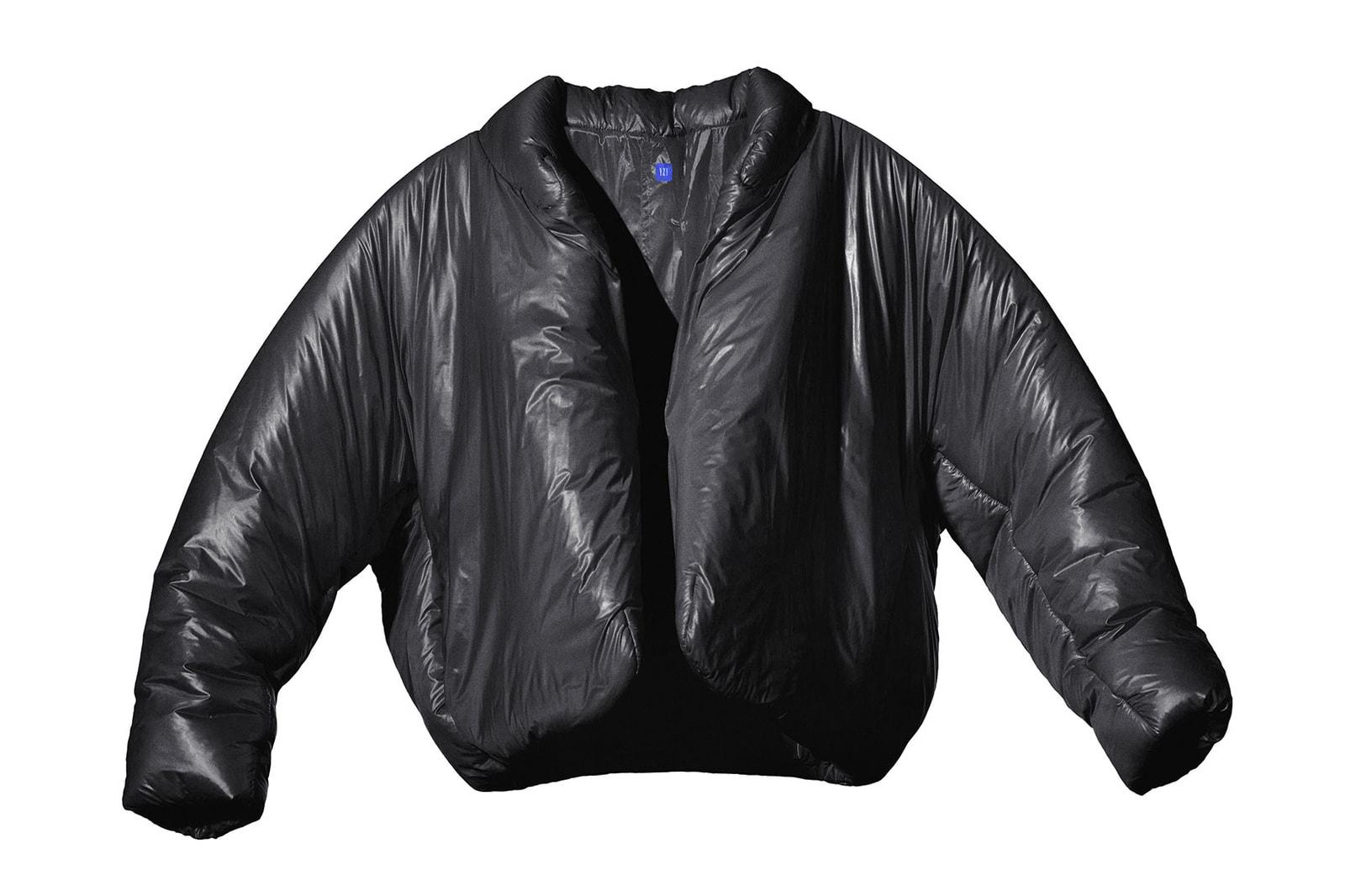 kanye west yeezy gap black round puffer jacket
