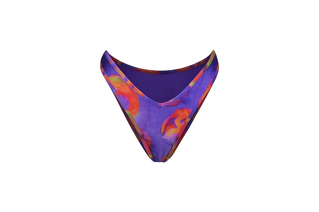 Selena Gomez La'Mariette Swimwear Collection Collaboration Swim Swimsuit Bikinis Bikini Bathing Suit Purple Theresa Mingus Morgan Brutocao