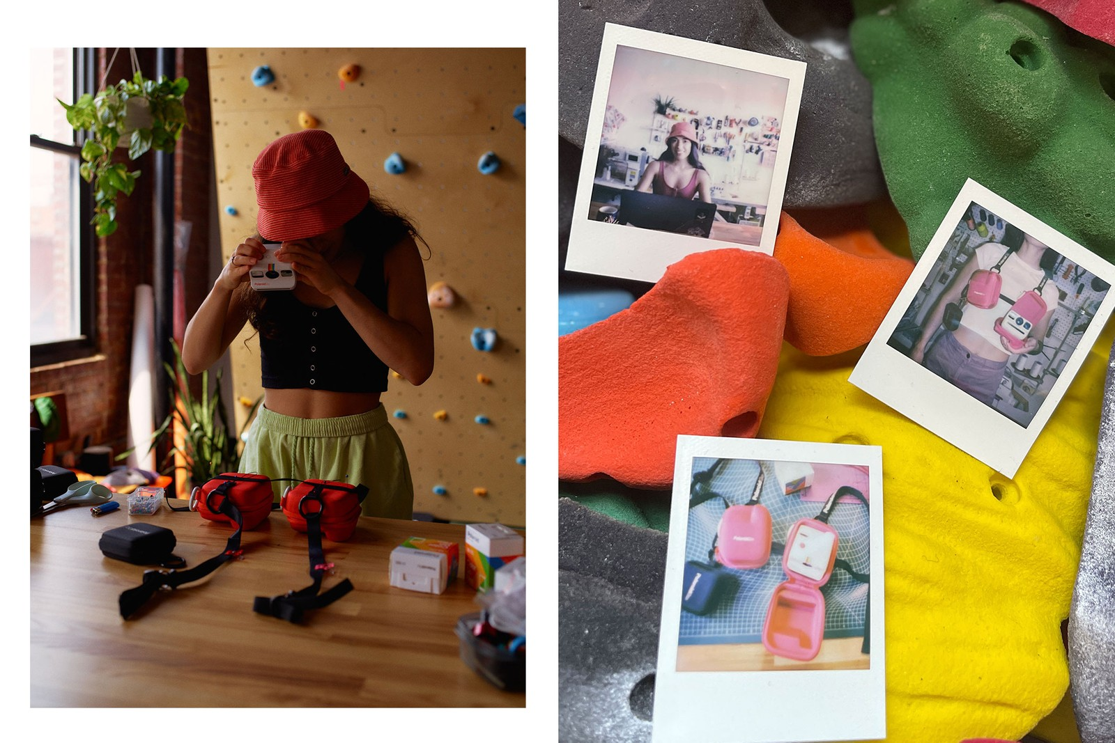 Nicole McLaughlin Polaroid Collaboration Upcycled Camera Case Harness Top Photo Diary