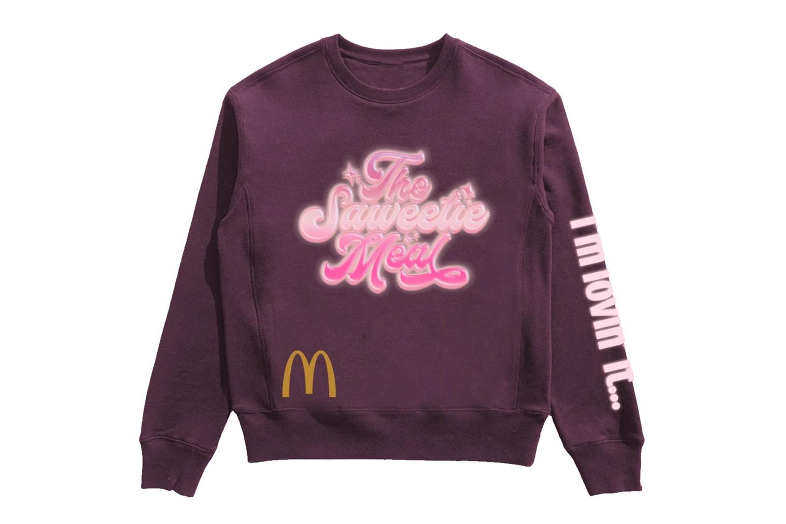 Saweetie McDonald's Collaboration Meal Merch Hoodies Sweatpants Rapper Music Artist
