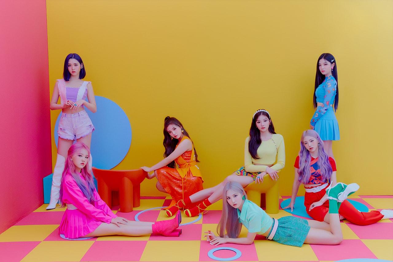 TRI.BE K-Pop Girl Group Korean Music Artists Singers Members Idols Songsun Kelly Jinha Hyunbin Jia Soeun Mire Neon Lights Pink