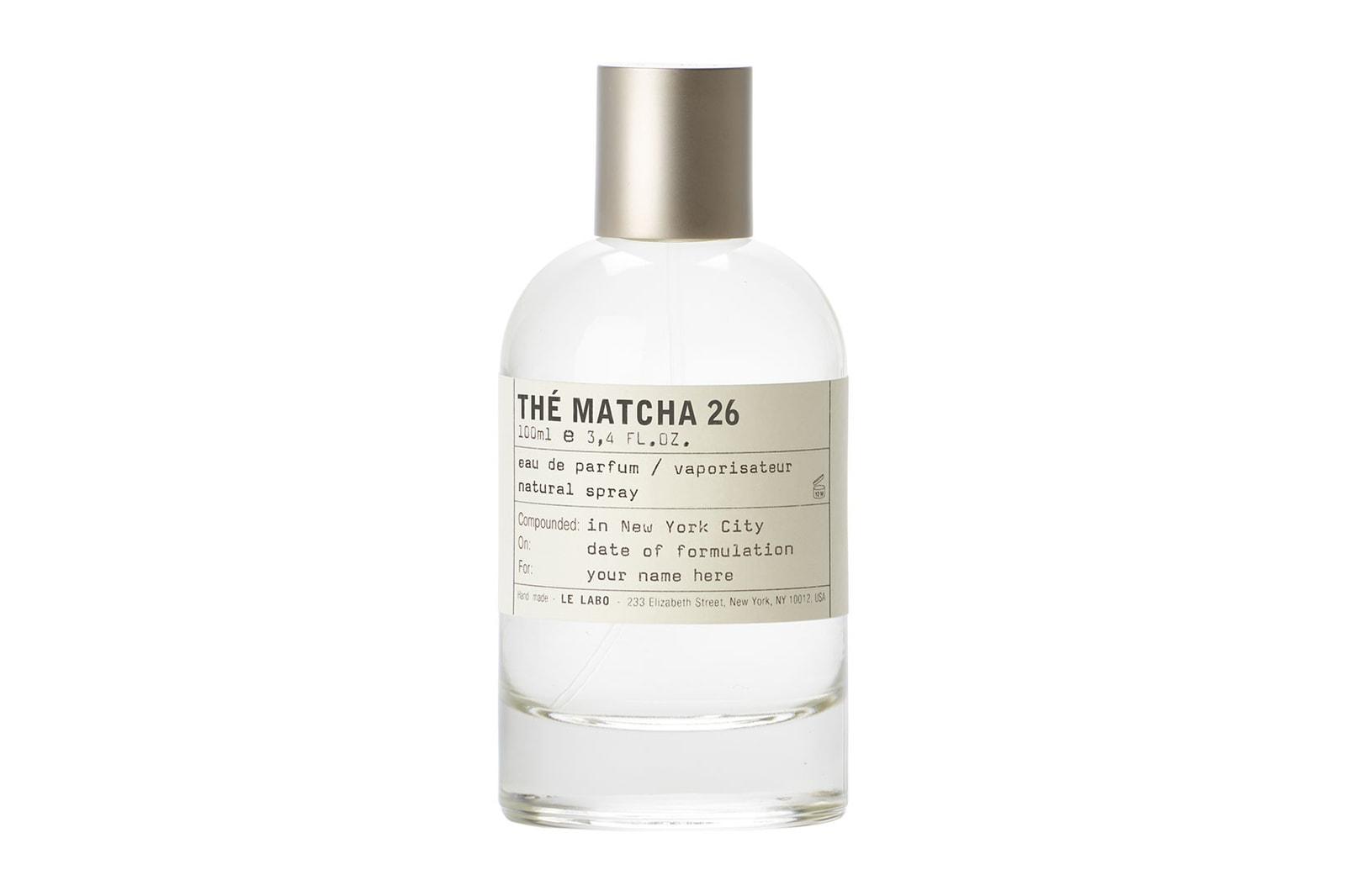 Le Labo THÉ MATCHA 26 Perfume Fragrance Scent Bottle Label