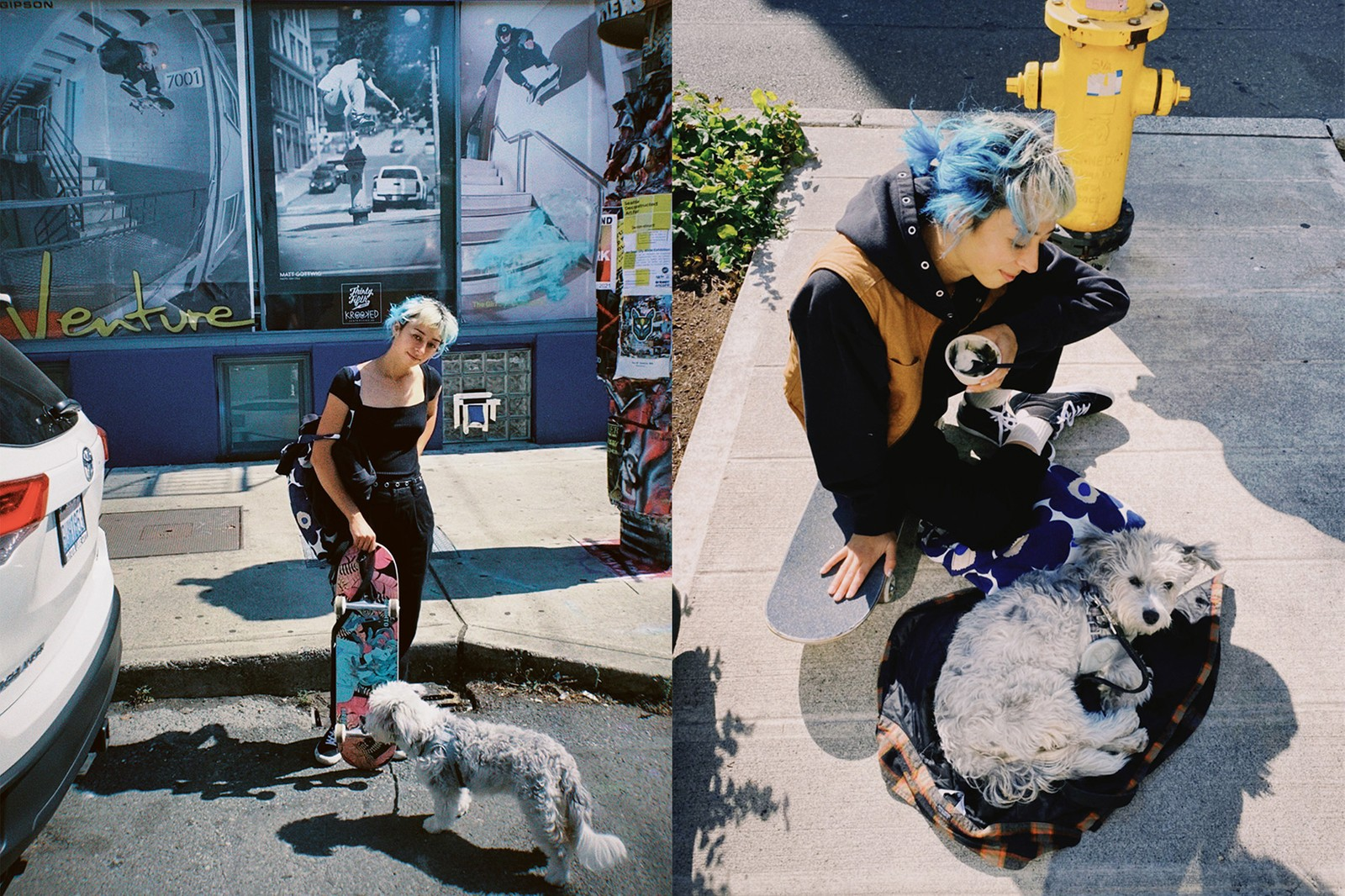 Olympian Skateboarder Lizzie Armanto Film Photography Athlete Dog