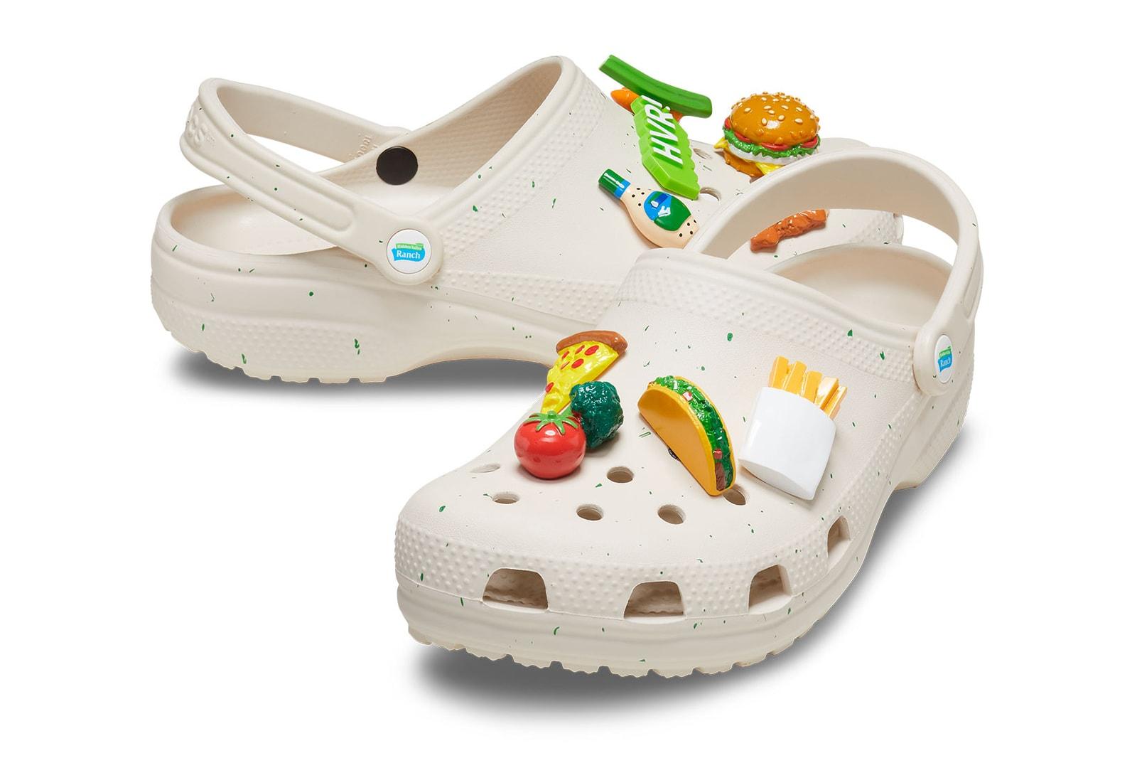 Crocs Hidden Valley Ranch Saweetie Clogs Jibbitz Pizza Fries Release Where to buy
