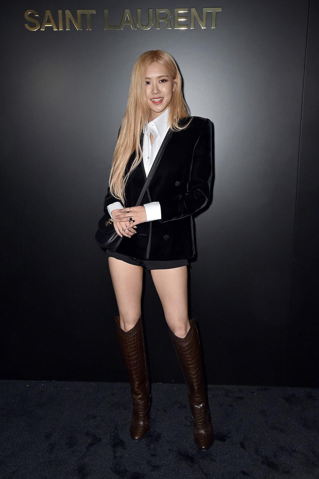 BLACKPINK Rose Jisoo Jennie Lisa Best Paris Fashion Week Looks K-Pop Girl Group Singers Artists South Korean Celebrity Style Dior Saint Laurent Chanel Celine