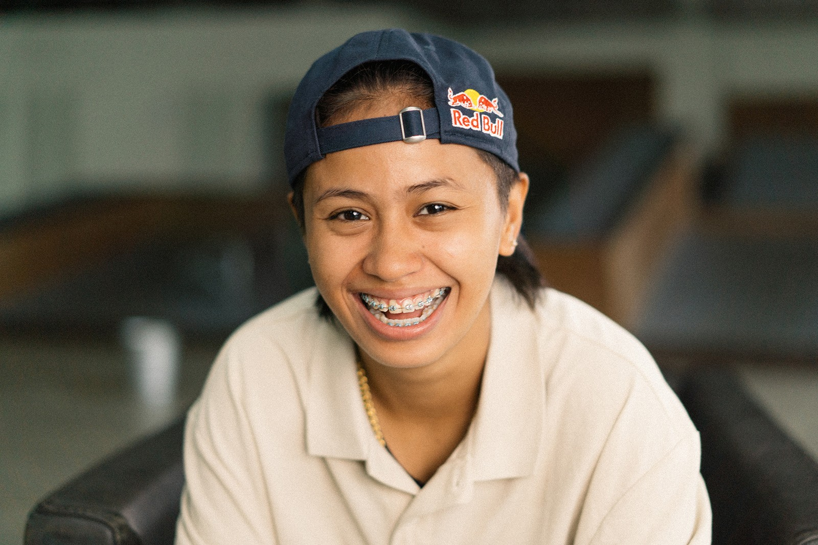 Margielyn Didal Margie Filipino Skateboarder Skater Olympian Athlete Tokyo Olympics Women's Street New Balance Numerics Red Bull Cap