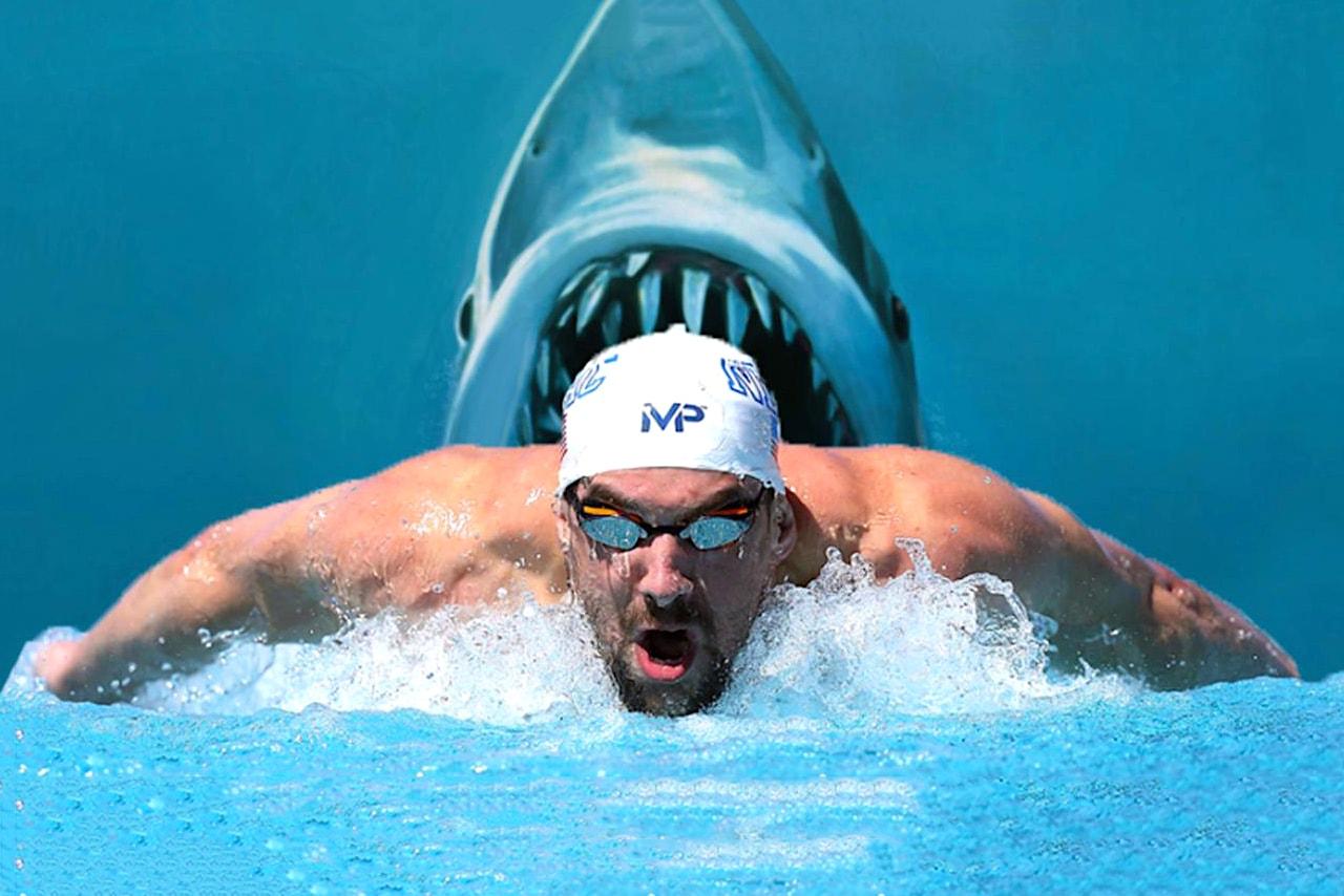 Michael Phelps Great White Shark Race Video
