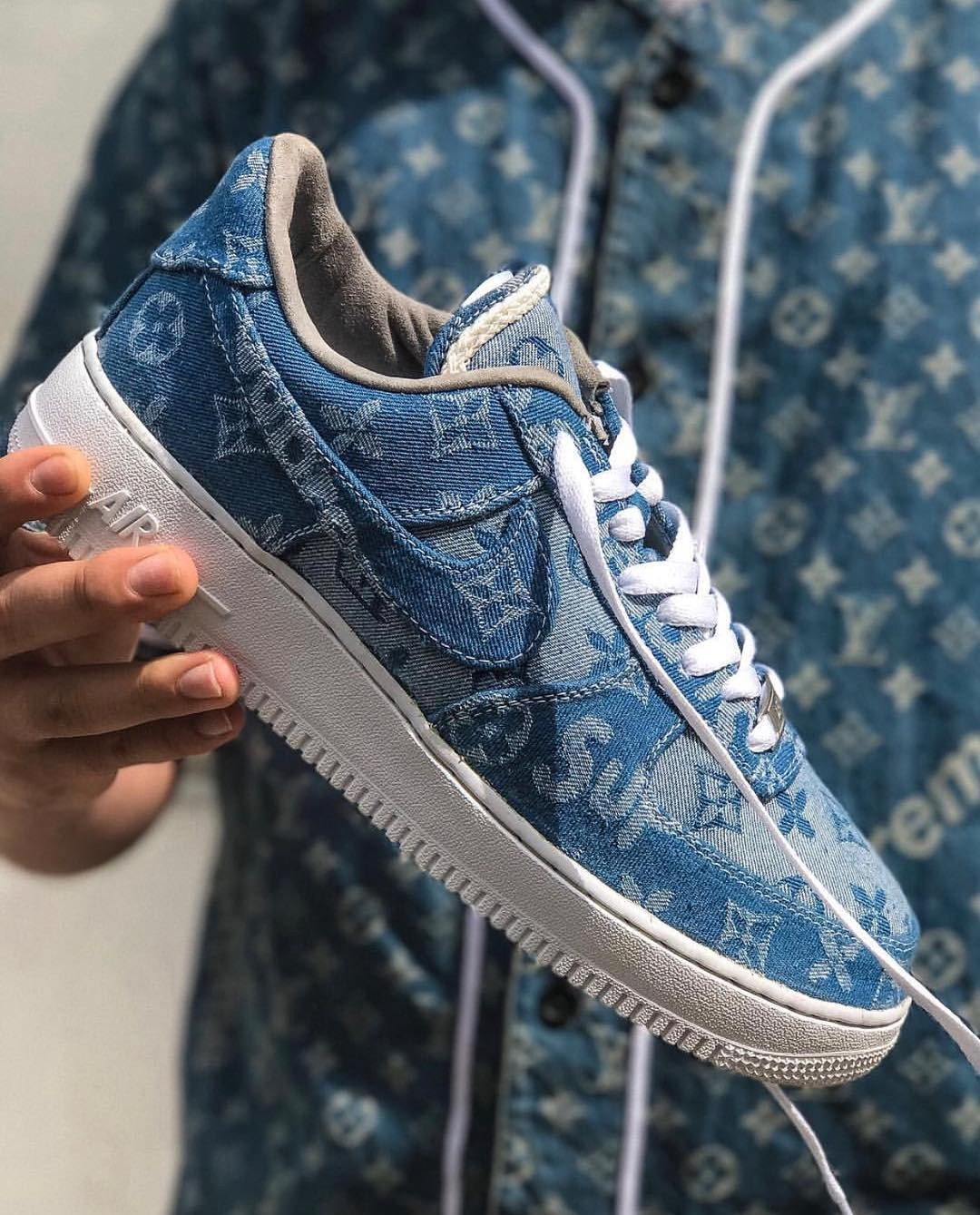 Nike Air Force 1 Supreme Lv Denim