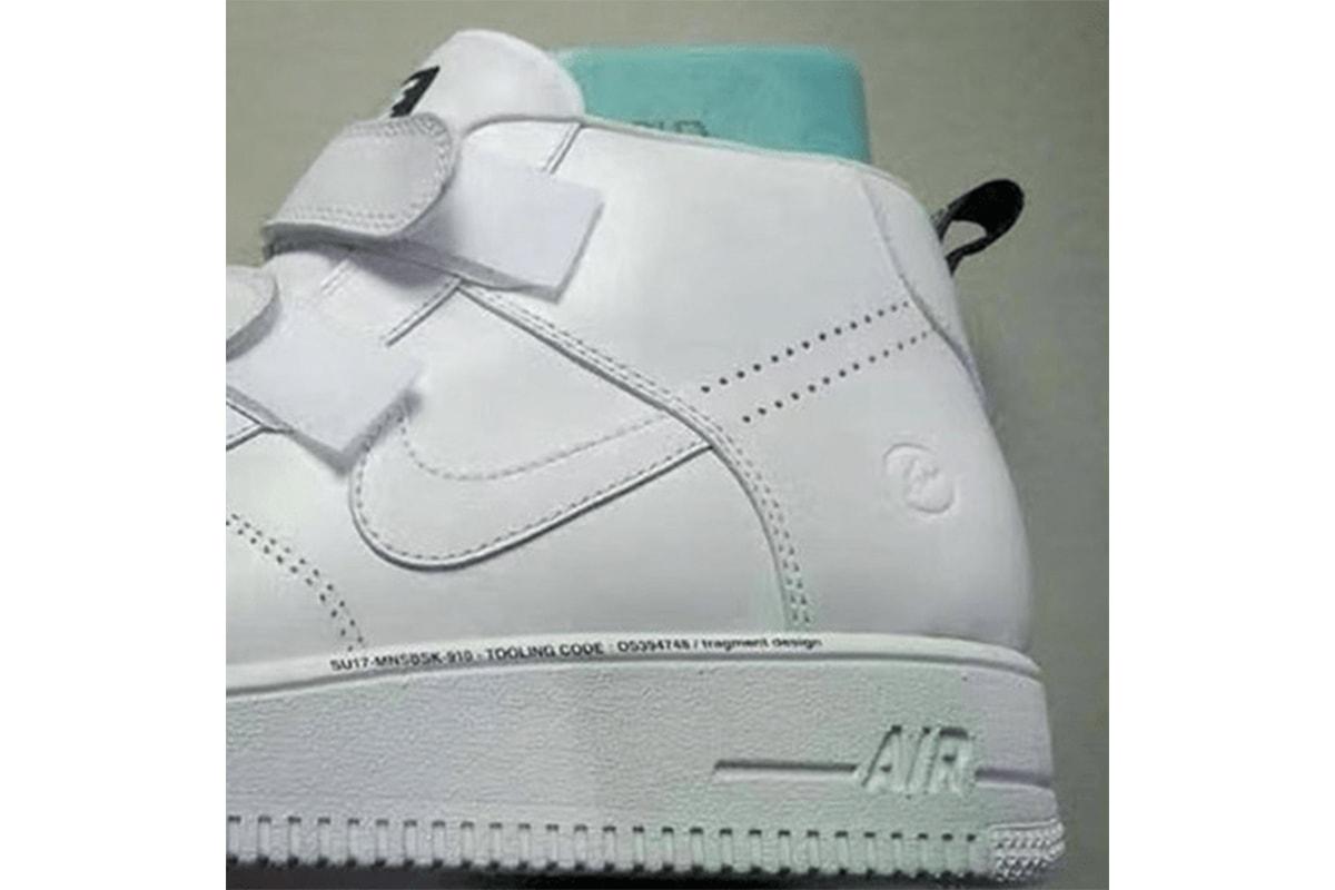 全新 fragment design x Nike Air Force 1 聯名鞋款曝光