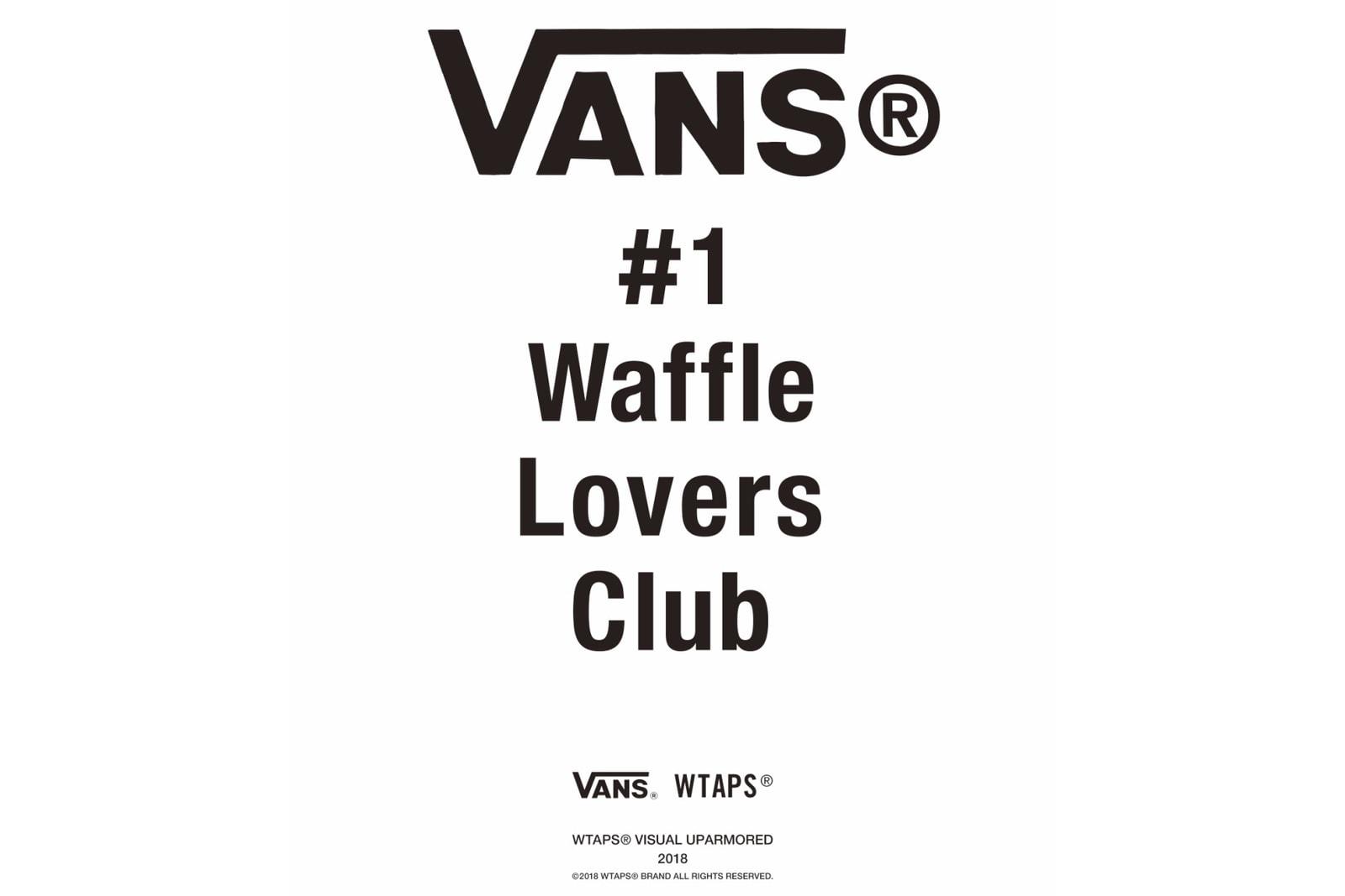 Vault by Vans x WTAPS 2018 聯名系列即將發布