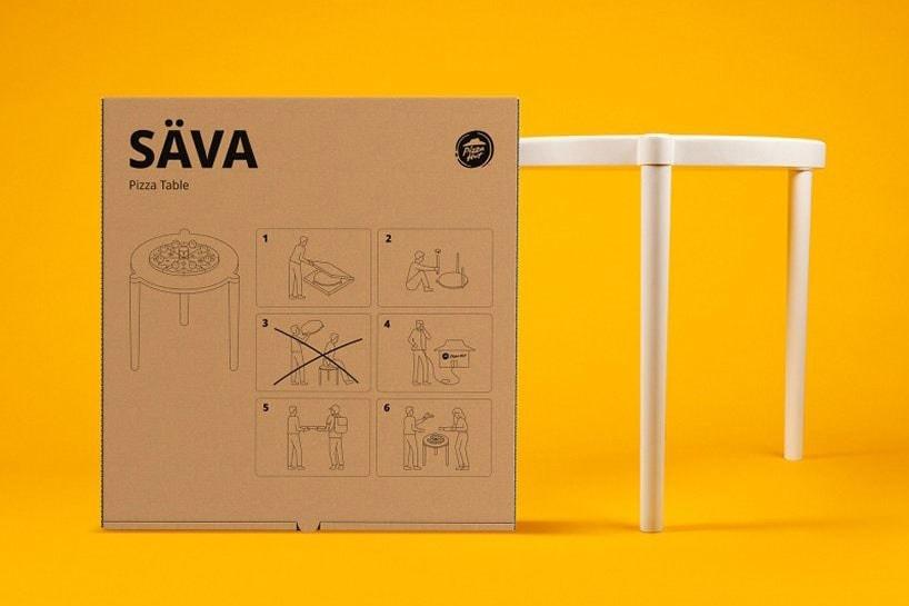 除了 Pizza Hut x IKEA 的幽默聯名外,還有哪些關於「披薩盒」的有趣設計?