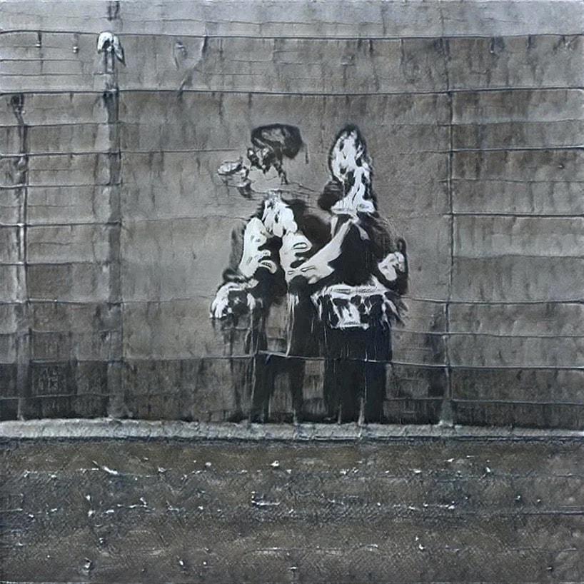 「AI 街頭藝術家」GANksy 模仿 Banksy 創作了 256 件作品