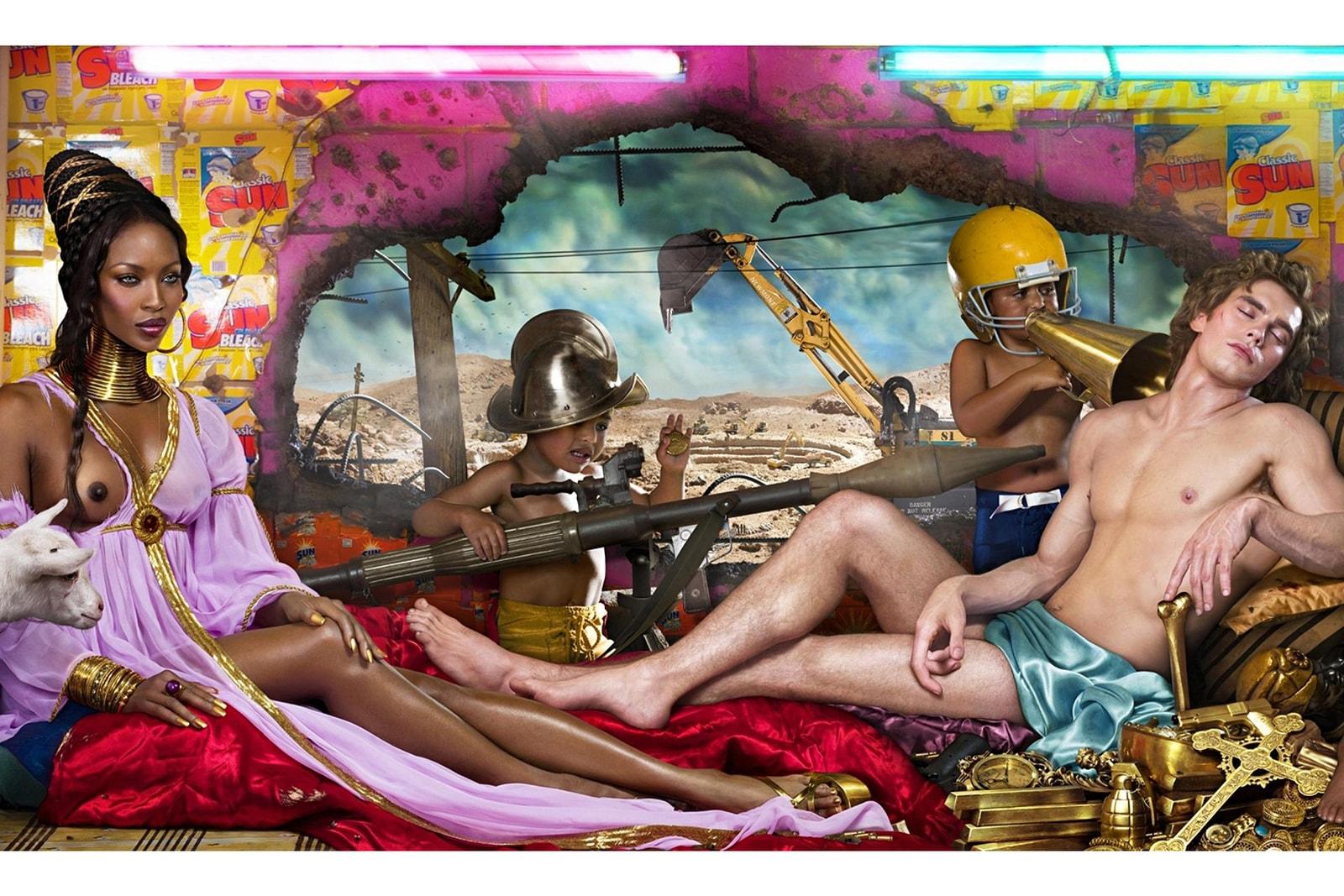 David LaChapelle Travis Scott travail kanye west tupac