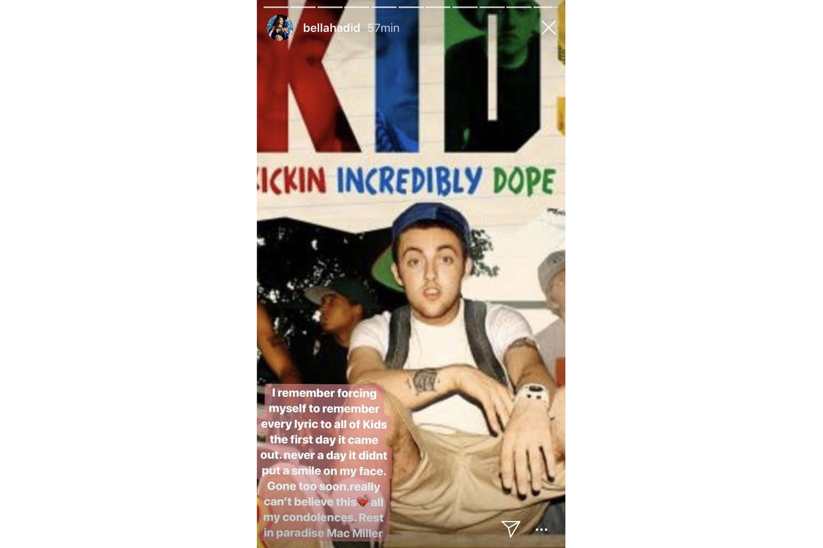 Mac Miller Mort Hommage Reaction Drake Travis SCott Kid Cudi Kylie jenner Post Malone