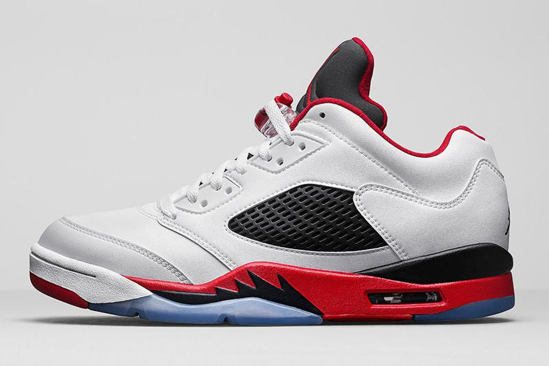 Jordan Brand 重新發佈 Air Jordan 5 Retro Low「Fire Red」配色