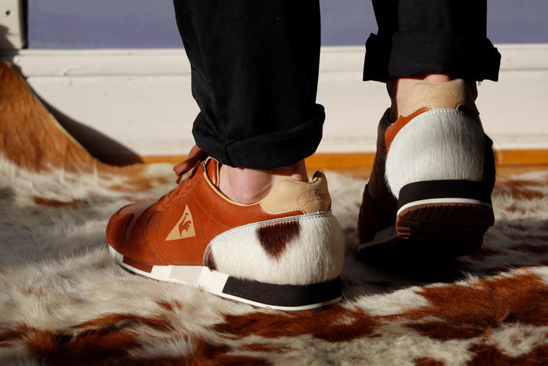 le coq sportif collaborates with Starcow for their new sneaker OMEGA