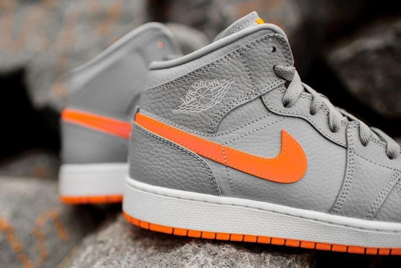 "Air Jordan 1 Mid GS ""Bright Citrus"""