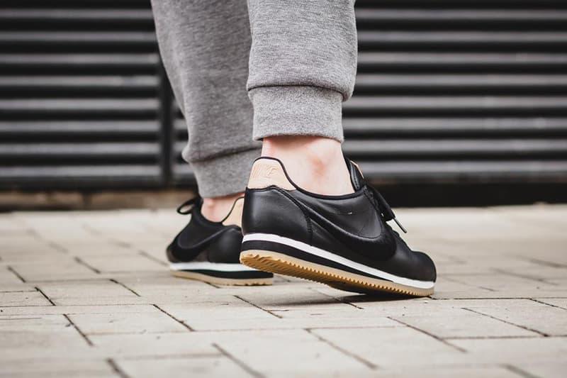 Nike Cortez Premium Black & Gum Treatment