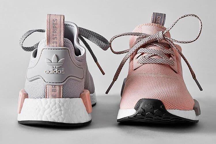 Offspring Exclusive adidas Originals NMD R1 Grey & Pink
